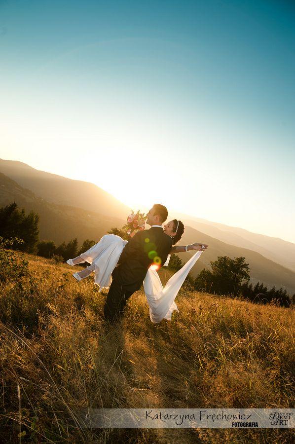 DSC_5644 Plener ślubny w górach o zachodzie słońca
