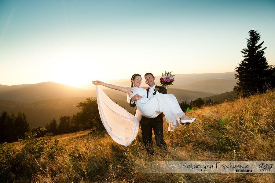 DSC_5645 Plener ślubny w górach o zachodzie słońca