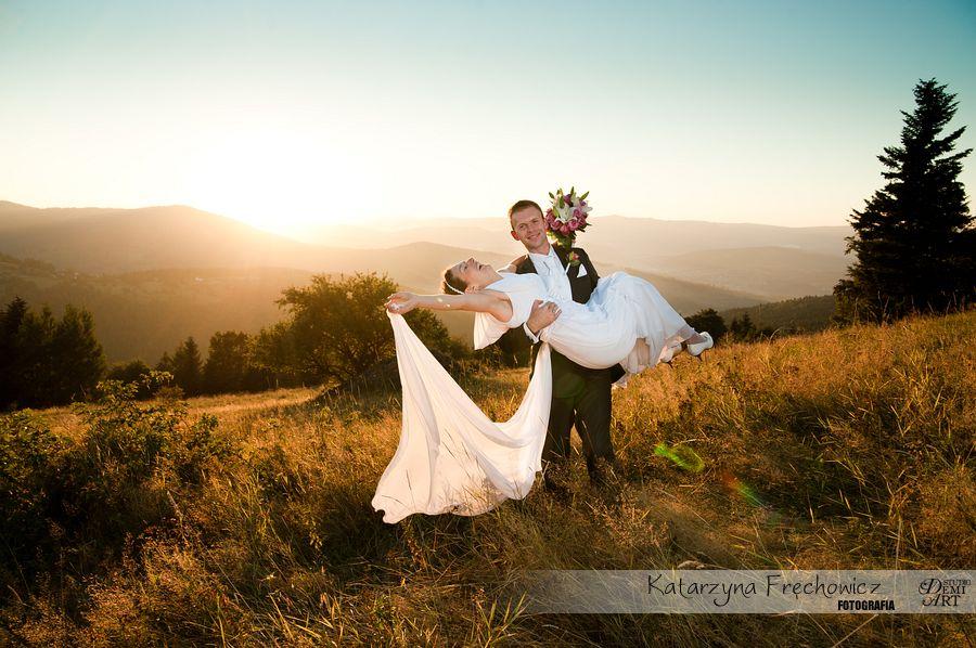 DSC_5646 Plener ślubny w górach o zachodzie słońca
