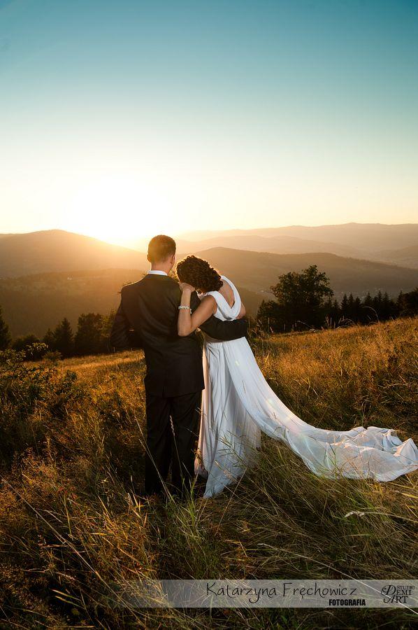 DSC_5650 Plener ślubny w górach o zachodzie słońca