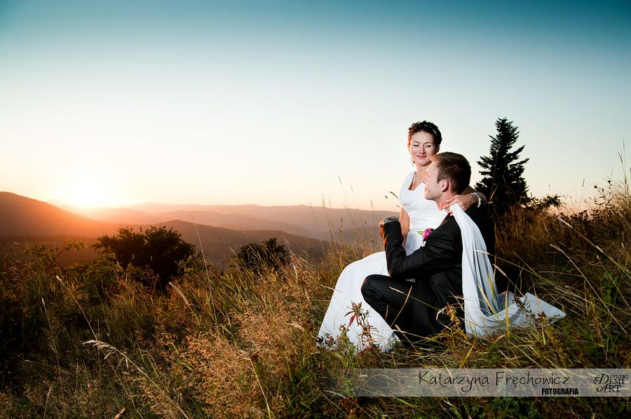 DSC_5668 Plener ślubny w górach o zachodzie słońca